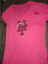 MLB NEW YORK METS PINK DYE TEE SHIRT LARGE
