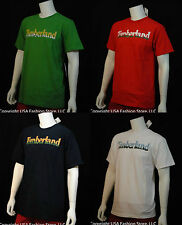 Timberland Men's Short Sleeve Tshirt Text Graphic Multi 5 Colors NWT