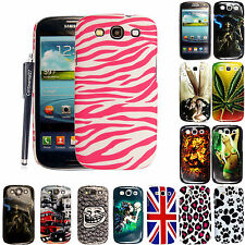 FOR SAMSUNG GALAXY S3 SIII i9300 NEW STYLISH PRINTED HARD CASE COVER+FREE STYLUS