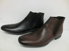 MENS BASE LEATHER CHELSEA BOOTS AVAILABLE IN BROWN AND BLACK      LEO