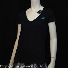 Hollister by Abercrombie Women's Short Sleeve Tshirt Navy NWT