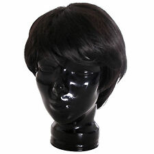 Smiffy's Men's Boy Band Black Wig Costume Party with Free Wig Net Cap
