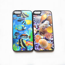Colorfull Lifelike 3D Flash Effect Fish Shell Hard Case Cover Skin for iPhone 5