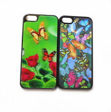 1Pc Colorfull Butterfly Design 3D Flash Effect Hard Case Cover Skin for iPhone 5
