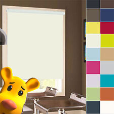 PREMIUM QUALITY STRAIGHT EDGE WINDOW ROLLER BLINDS EASY FIT ROLLERBLIND BLIND