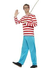 Adult Mens Wheres Wally? Licensed Cartoon Costume Smiffys Fancy Dress