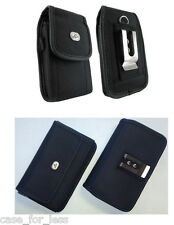 For ATT Phones Vertical + Horizontal Rugged Case Cover Purse Side Clip Holster