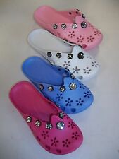 GIRLS RUBBER BEADED MULES SANDALS SIZE 12,12.5,13,1,2,2.5 (LOPEZ WH15)