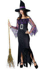 Mystical Spellbound Witches Halloween Fancy Dress Ladies Witch Costume Outfit