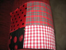 Black,white,red,skulls,tartan,stripes patchwork chair Arm Covers x 6,Goth,Rock