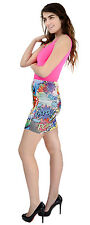 Cartoon Comic Book Pop Art Sublimation Print Mini Skirt Bodycon Stretch Pencil