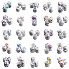 10pcs Murano Porcelain Ceramics Spacer Beads European For Bracelet Jewelry Craft