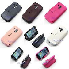 TPU Silicone+PU Leather Case Holder For Samsung Galaxy Ace II-X GT-S7560M Canada