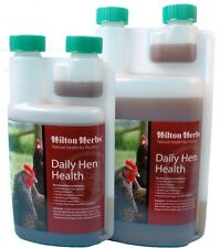 HILTON HERB DAILY HEN HEALTH chickens poultry feed shell strengthener 500ml 1L