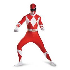 Adult TV Show Mighty Morphin Power Rangers Red Ranger Deluxe Bodysuit Costume