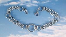 Stainless Steel Chainmaille Multi Chains Anklet, Boot, Bracelet or Necklace