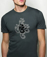 NEW Alternative American Apparel Organic BAMBOO yoga OM AUM Sanskrit mens tshirt