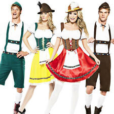 Bavarian Man or Wench Oktoberfest Fancy Dress Lederhosen German Beer Costume New
