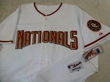 3704 100% Licensed MLB MAJESTIC WASHINGTON NATIONALS Authentic GAME Jersey WHITE