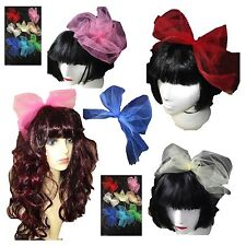 80s Headband - Madonna Bow - Hen Party Hair Band Fascinator 9 colours Double