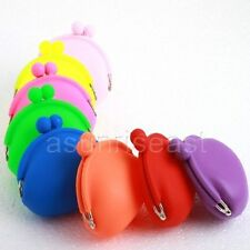 Candy  Mini Lady/Girl/Women Silicone Round Coin Wallet Purse Rubber Bag Case