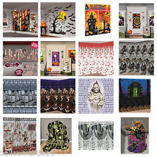 Haunted Halloween Horror Scene Setter Wall Poster Kit Party Room Decorations