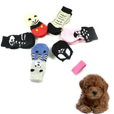 Cute New Indoor Pet Dog Soft Cotton Anti-slip Knit Weave Warm Sock Skid Bottom