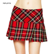 HELL BUNNY Red TARTAN Mini Skirt EMO Club/Party 8-18 All Sizes