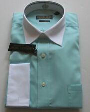 "Donald Trump Mens Two-Tone French Cuff No-Iron Dress ""Green Tea"" Shirt $69.50"