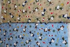 Project Linus Snoopy Woodstock USA Army Hugs for Heroes 100% cotton fabric