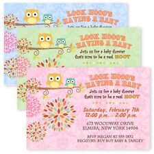Happy Owl Forest Whimsical Baby Shower Tree Invitations Personalized Invitation