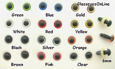 22 PAIR 6mm to 10mm MIX COLOR Plastic Safety EYES teddy bear, doll, sew  PE-1