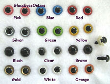 22 PAIR 12 to 15mm Mix Color Plastic Safety Eyes Teddy Bears, Puppets, Doll PE-1