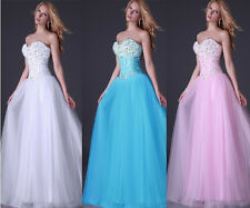 Princess Homecoming Beaded Sweatheart/Ball gown/Evening/Wedding Prom Party Dress