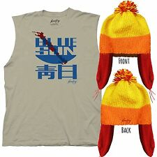 Adult TV Show Serenity Firefly Jayne Blue Sun Qing Ri Blood Shirt Beanie Costume