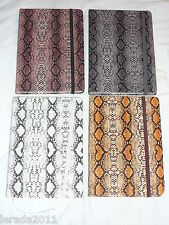 A5 NOTEBOOK PU LEATHER SNAKESKIN COVER PAD BOOK JOURNAL HARDBACKED GIFT DESIGNER