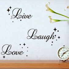 Live Laugh Love Quote Star Bubble Wall Art Vinyl Decal Window Decoration Sticker