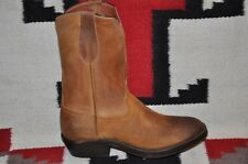 Ralph Lauren RRL Ridgeway Roper Made in USA Cowboy Western Suede & Leather Boots