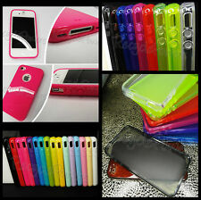 LOT TPU Silicone phone case Soft 25 Mutli color Crystal Skin For iPhone 4G 4S