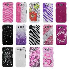 For LG Optimus G Pro E980 E940 AT&T Full Diamond Bling Designs Hard Cover Case