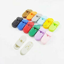 20 50 100 pcs Pacifier Holders Clips Baby Feeding Plastic Badge 4 Lanyards Craft