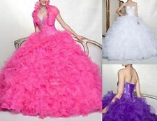 Hot Sale Quinceanera Dresses Ball Gown Prom Pageant Dress Organza Custom Made