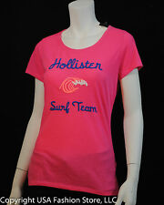 NWT Hollister by Abercrombie Women's Short Sleeve Tshirt Little Dume Pink