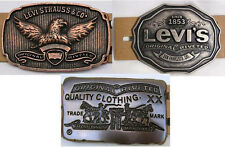 Levi Strauss Levi's Mens Belt Buckle Heavy Duty Metal Choice of 3 Styles *New*