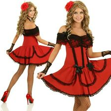 Mexican Senorita Costume Spanish Dancer Lady Flamenco Fancy Dress Party Outfit