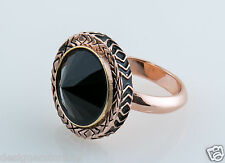 House of Harlow 1960 Nicole Richie Scry Stone Ring in Pink Gold