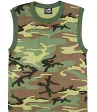 Rothco 6700 Woodland Camouflage Tank Top/Muscle Shirt