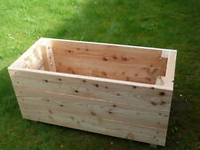 Trough wooden growing larch planter 1m long 4x  READY ASSEMBLED by Gardenlarch
