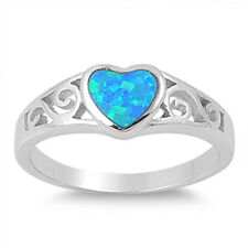 Silver Ring w/ Lab Opal - Heart Product Code: RO150373