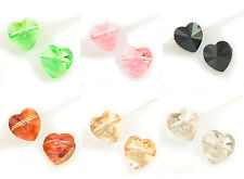 SWAROVSKI CRYSTAL Element 5742 Heart  Bead Variable Color / Size